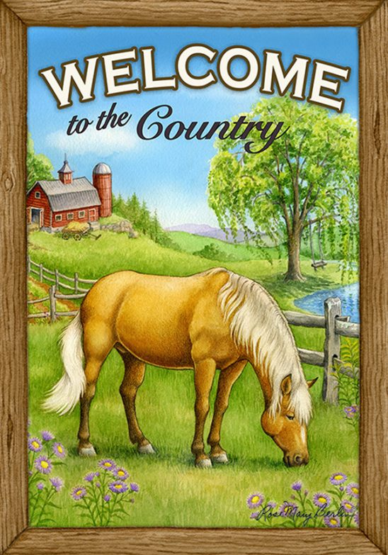 Farm – Welcome to the Country – Horse by Rose Mary Berlin