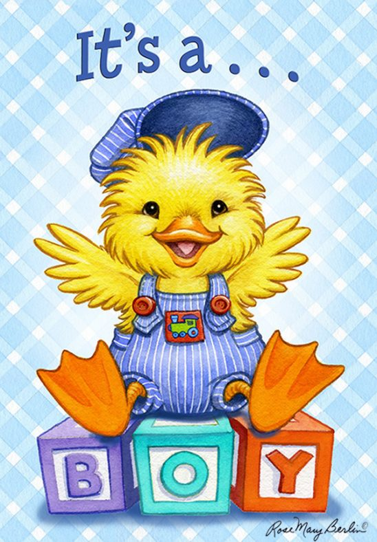 Kids Illustration – Baby Duck Boy by Rose Mary Berlin