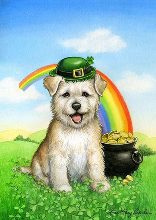 St Patrick's Day – Puppy by Rose Mary Berlin