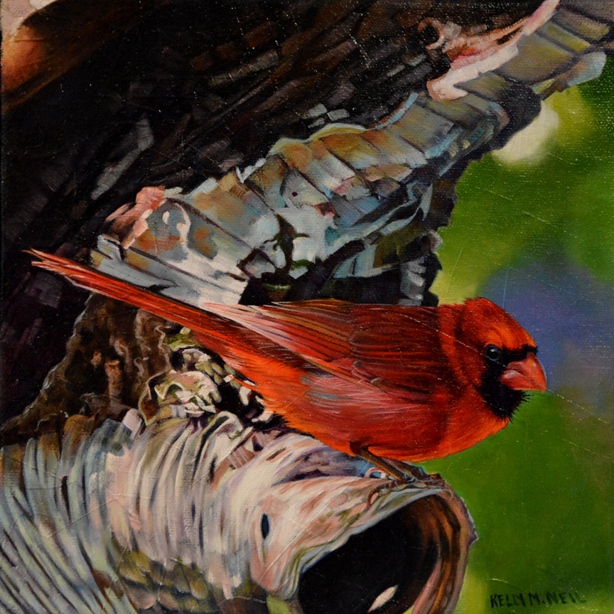 Scarlet Song Bird by Kelly McNeil
