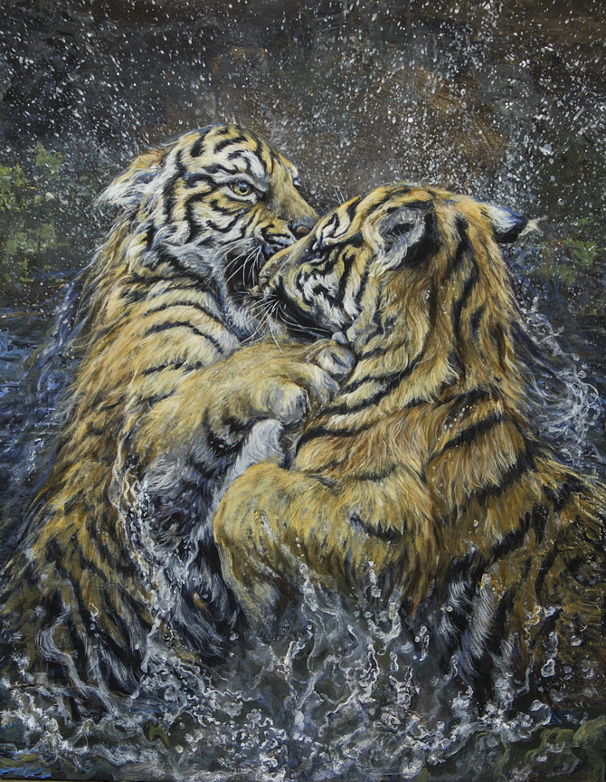 Water Temp – Tiger by Laura Mark-Finberg
