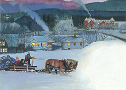 Christmas – Butcher – Bringing Home Tree on Sleigh GXB10655© Wind River Studios © Wind River Studios