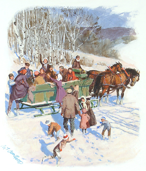 Christmas – Crawford – Pause in Sleigh Ride GXB06720 © Wind River Studios