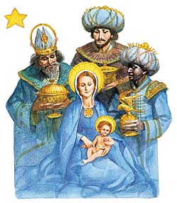 Christmas – McNeely-Three Wise Men with Mary and Jesus GXB09193 © Wind River Studios