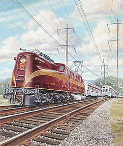 Trains – Thorpe Art Deco Train Pennsylvania GXB16465 © Wind River Studios