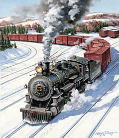 Trains – Thorpe Maine Locomotive GXB14881 © Wind River Studios