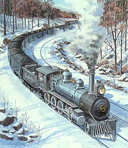 Trains – Thorpe West Virginia Locomotive GXB14932 © Wind River Studios