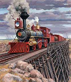 Trains – Thorpe Wyoming Locomotive GXB14989 © Wind River Studios