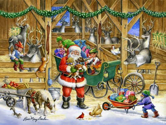 Reindeer Barn by Rose Mary Berlin