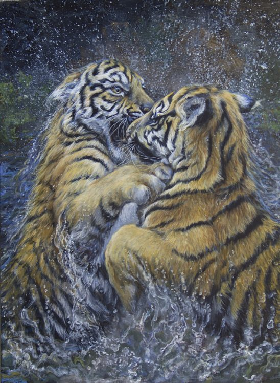 Water Twins – Tigers by Laura Mark-Finberg