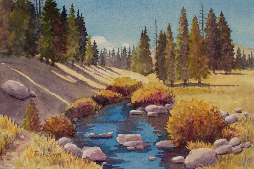 Libby Creek (study) by Joy Keown