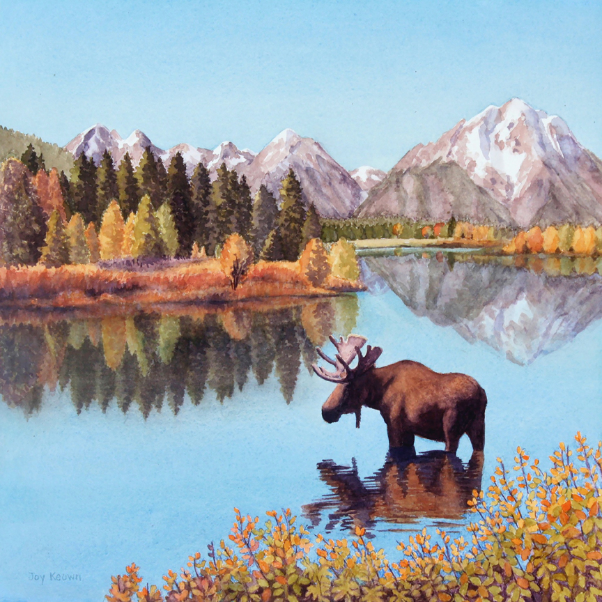 Oxbow Bend Reflections by Joy Keown