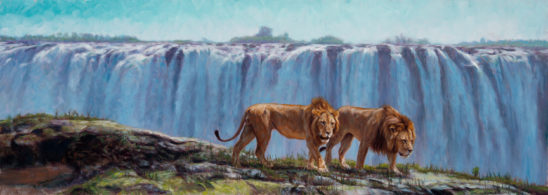 On the Edge of the Mighty Victoria Falls by John Banovich