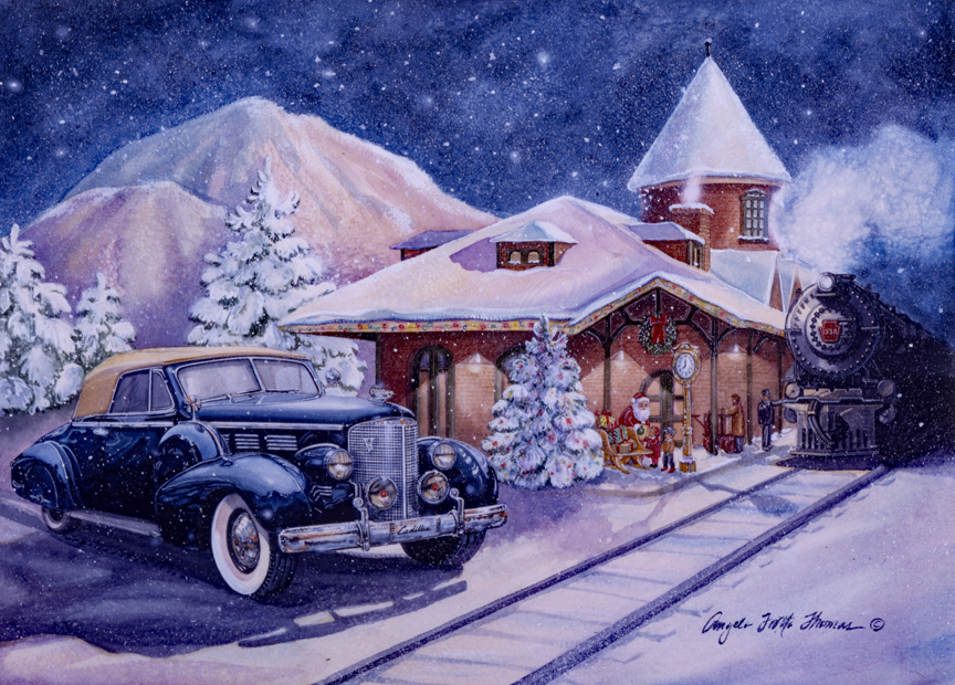 Christmas – Christmas at the Station by Angela Trotta Thomas