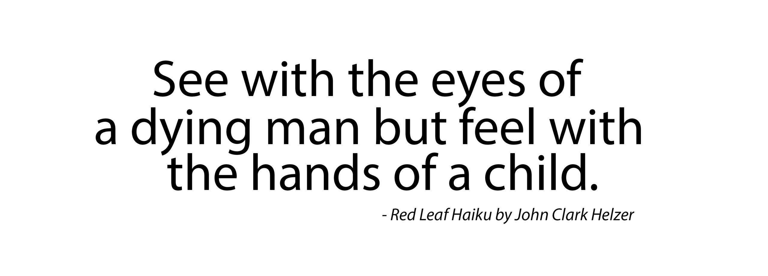 Haiku – Hands of a Child