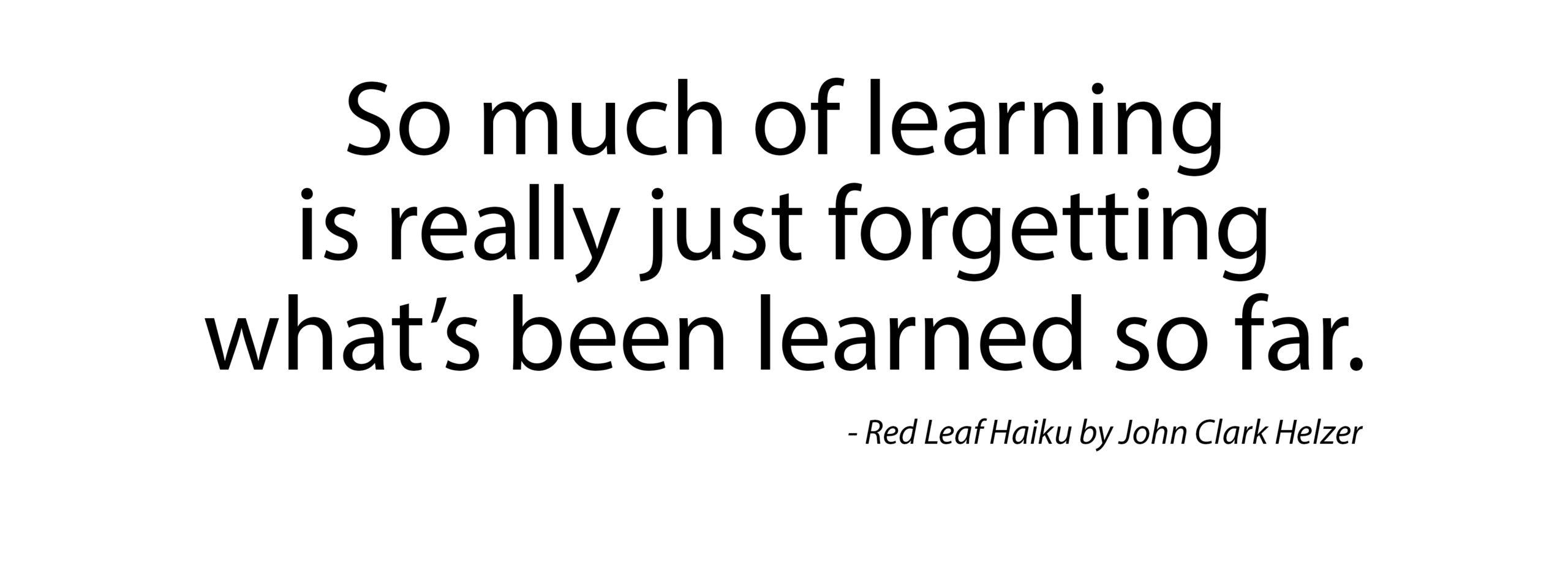 Haiku – Learning
