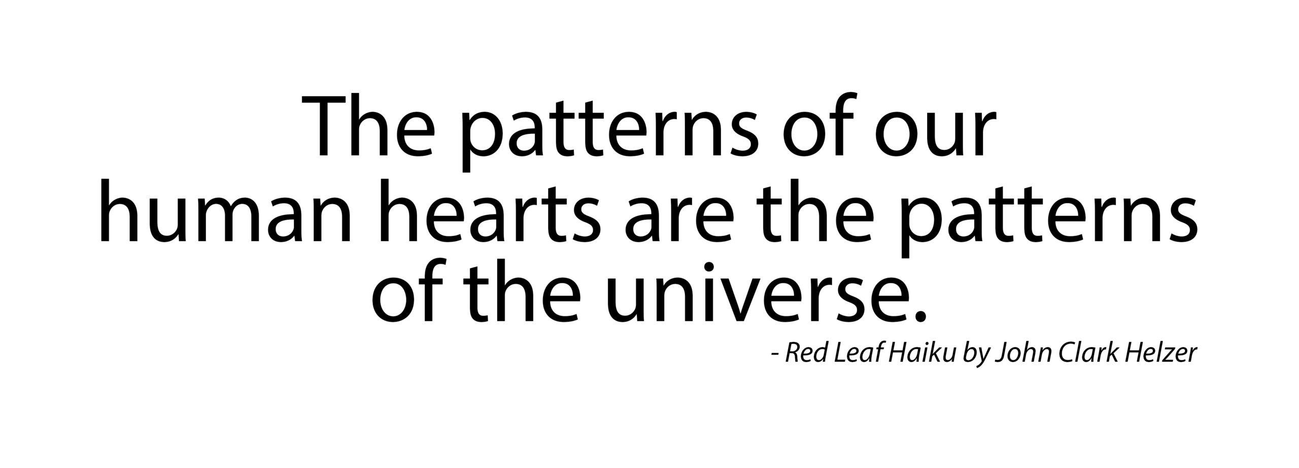 Haiku – Patterns of the Universe