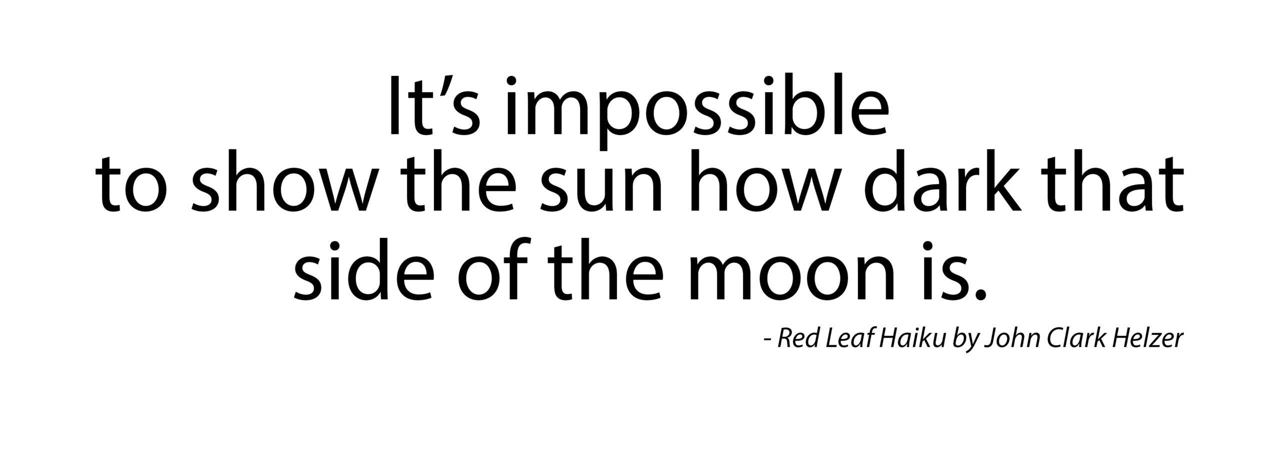 Haiku – Sun and Moon