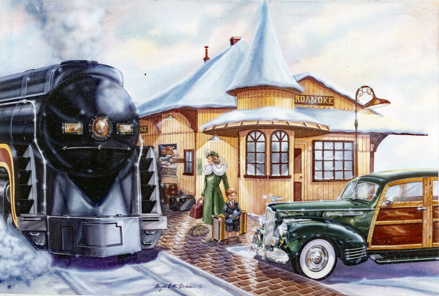 Trains – Winter Vacation by Angela Trotta Thomas