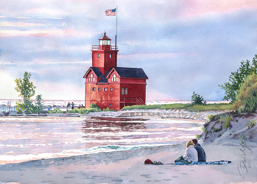 Holland Lighthouse by Stan Myers
