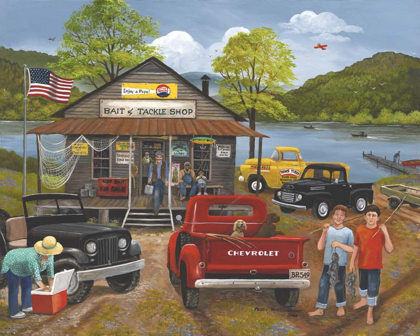 Bait And Tackle Shop by Peggy Myrick Knight