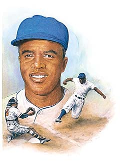 GXB16277 1940s – Jackie Robinson by Paul and Chris Calle © Wind River Studios