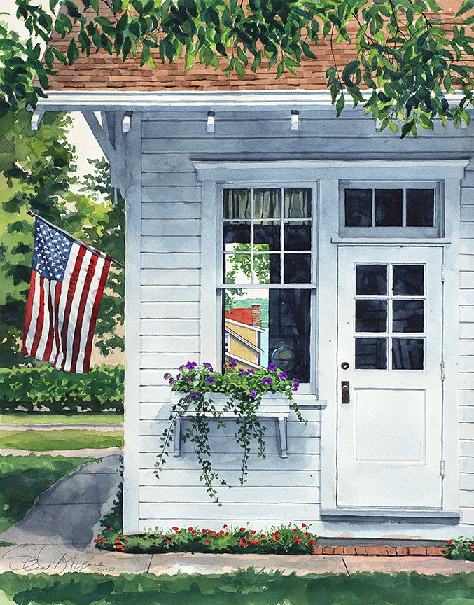 Bay View Post Office by Stan Myers