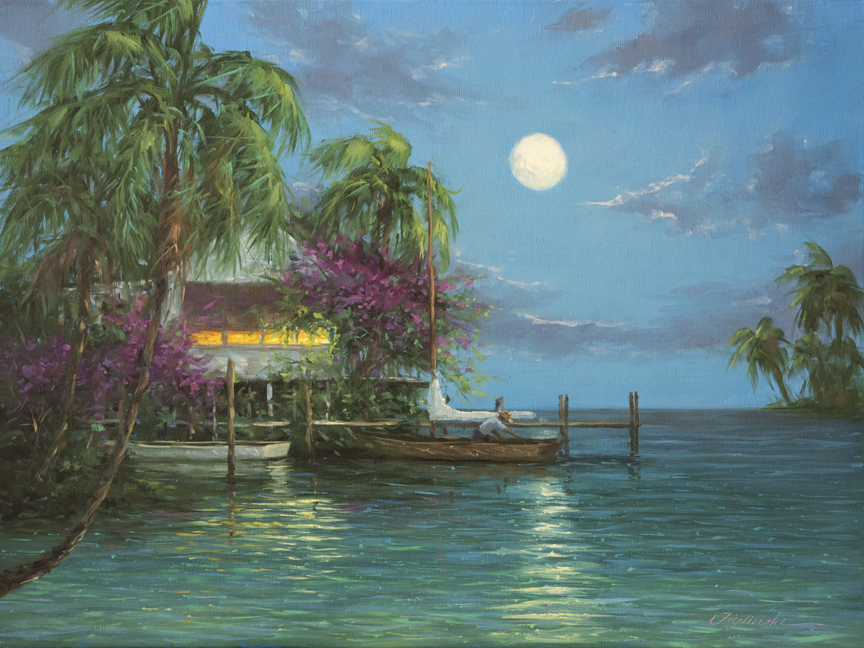 Big Moon On The Bay by Martin Figlinski