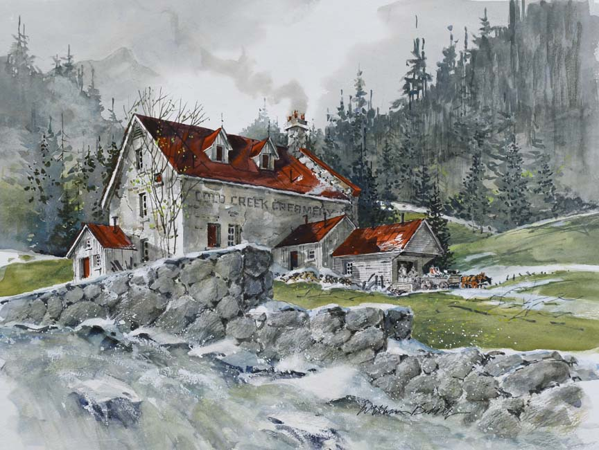Cold Creek Mill 6803 by William Biddle