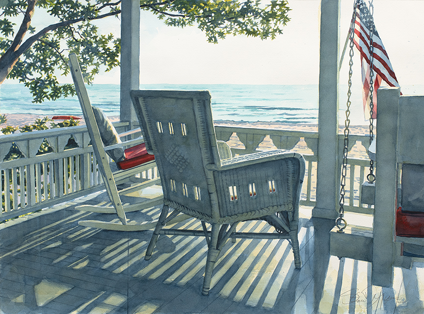 Macatawa Porch View by Stan Myers