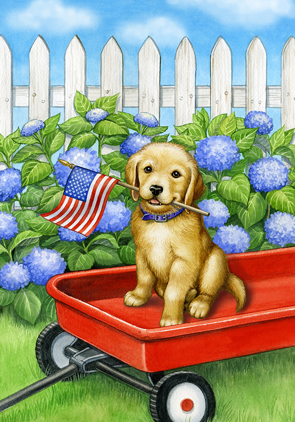 Patriotic Pup by Rose Mary Berlin
