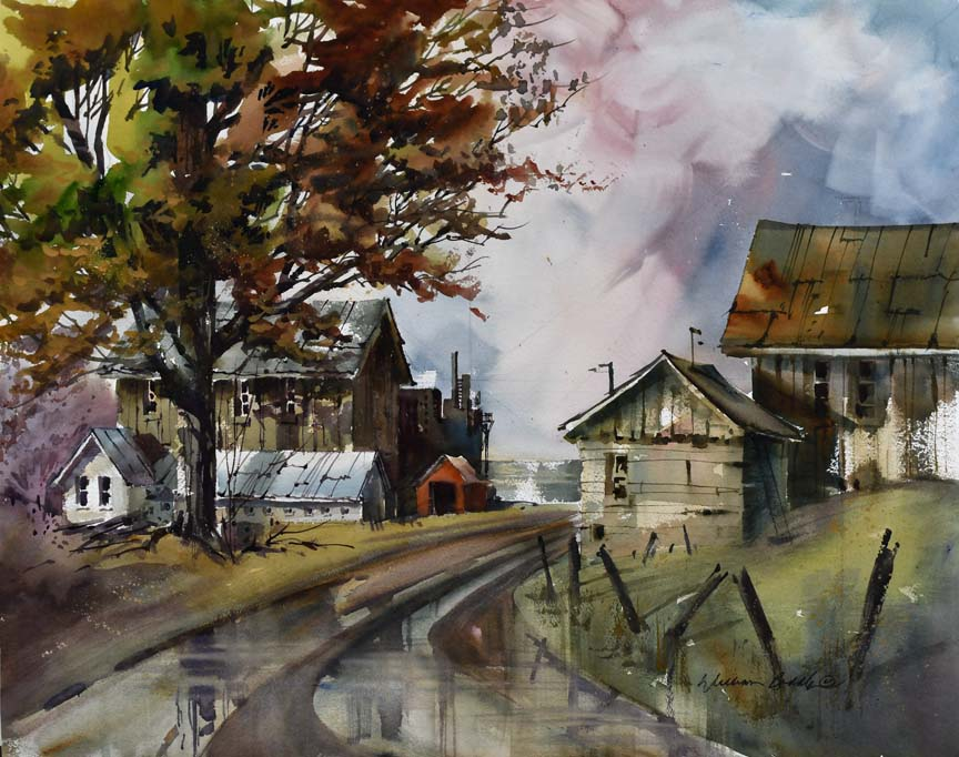 Road to the Lake 7059 by William Biddle