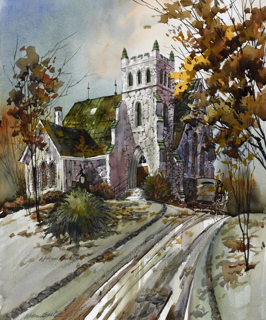 The Autumn Church 7041 by William Biddle