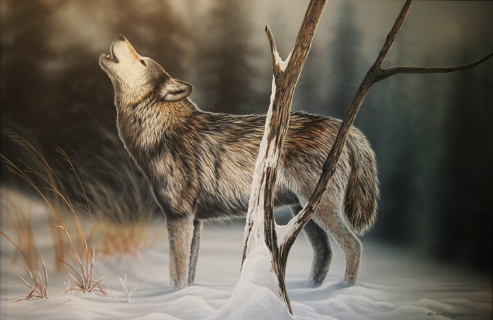 Howling Wolf by Richard Clifton