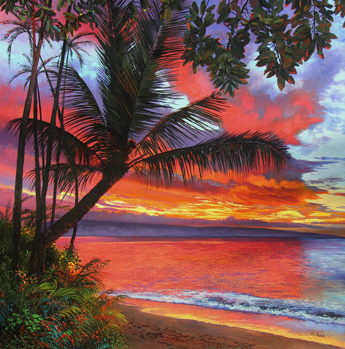 Maui Sunset 98003 by Andrew Kiss
