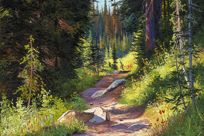 Mountain Trail by Andrew Kiss