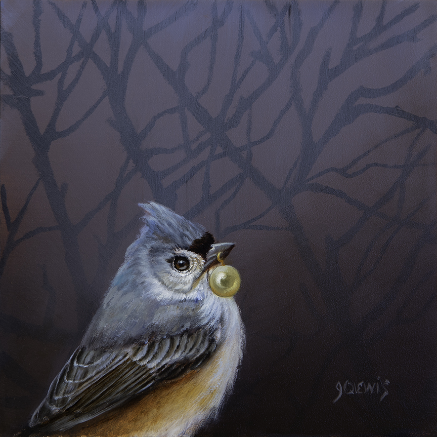 Titmouse with Pearl Study © Jhenna Quinn Lewis