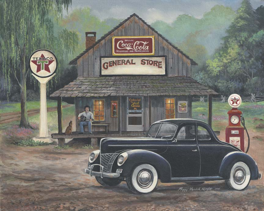 40's Ford by Peggy Myrick Knight