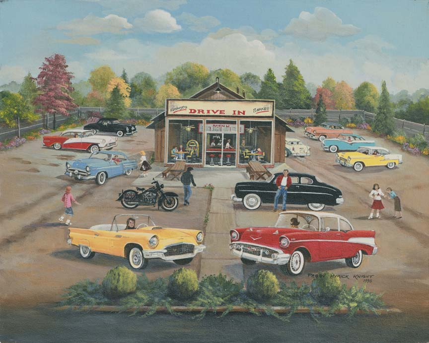 50's Drive-In by Peggy Myrick Knight