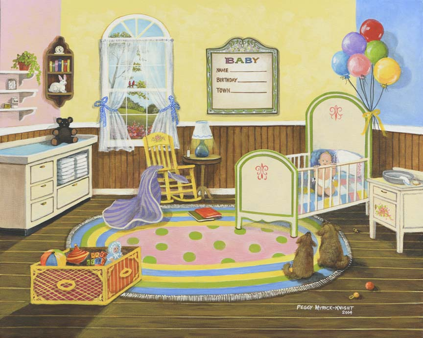 Baby Nursery by Peggy Myrick Knight