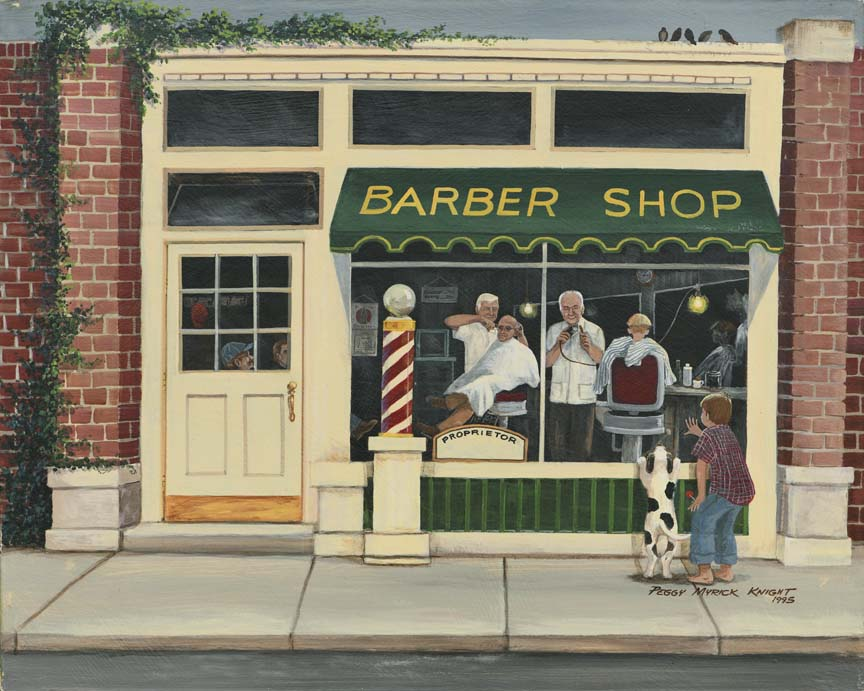 Barber Shop by Peggy Myrick Knight