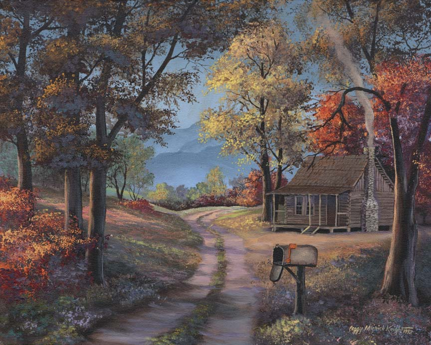 Cabin In The Woods by Peggy Myrick Knight
