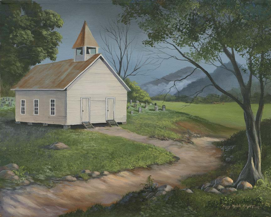 Country Church by Peggy Myrick Knight