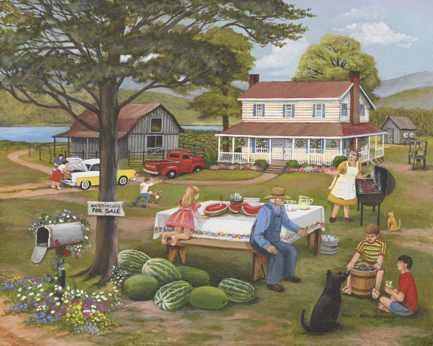 Family Cookout by Peggy Myrick Knight