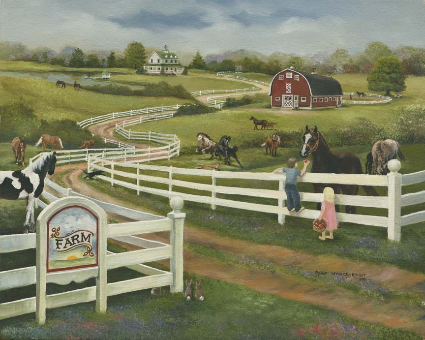 Horse Farm by Peggy Myrick Knight