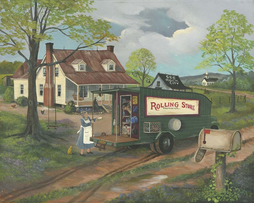 Rolling Store by Peggy Myrick Knight