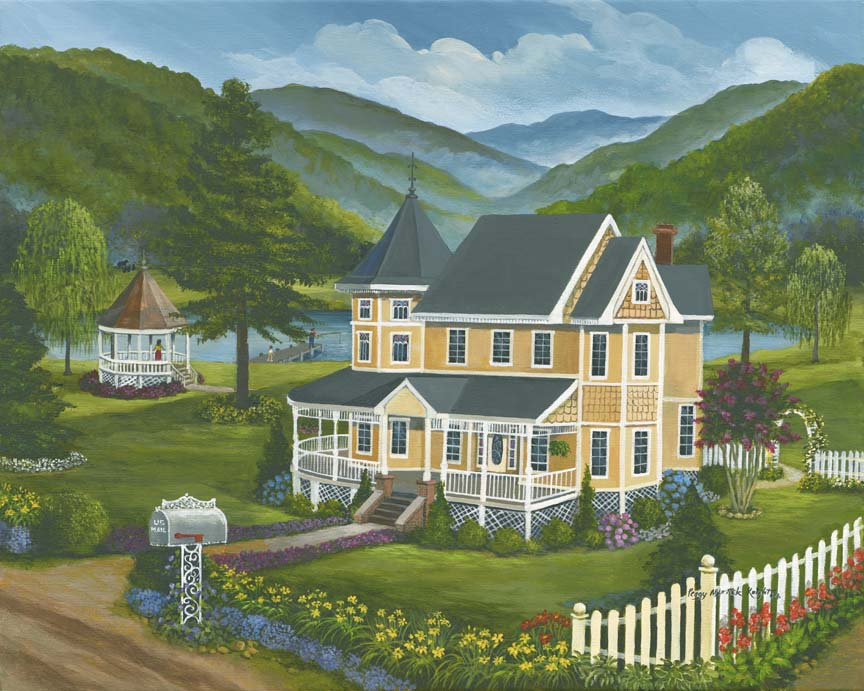 Victorian House by Peggy Myrick Knight