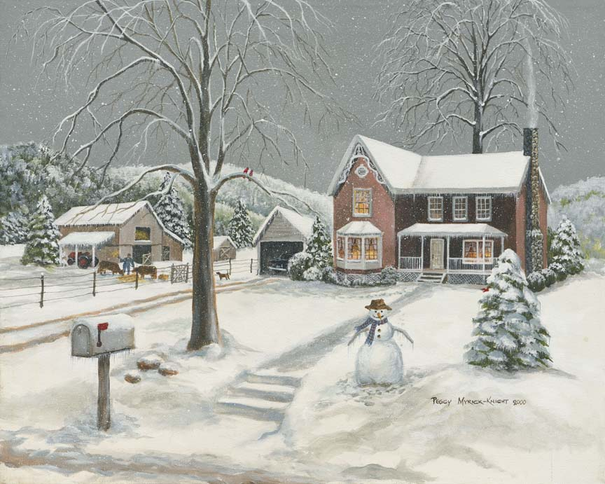Victorian Winter by Peggy Myrick Knight