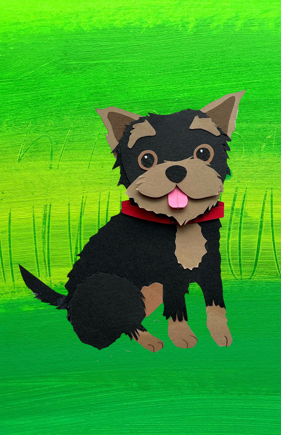 Dogs-1Yorkie with Grass Background © Shelley Davies