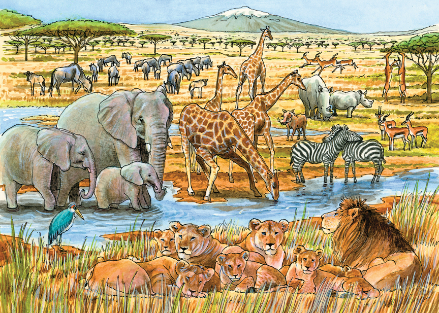 Out of Africa 58813 © Cobble Hill Puzzle Company